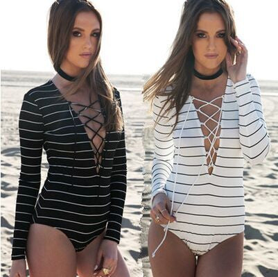 Fashion long-sleeved striped Jumpsuits Shirts