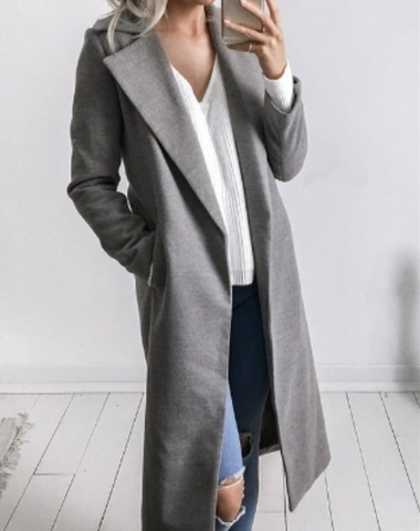 Winter Fashion Long Sleeves Lapel Jacket Coat Top