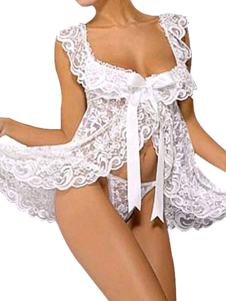 Womens Lace Lingerie Sleepwear