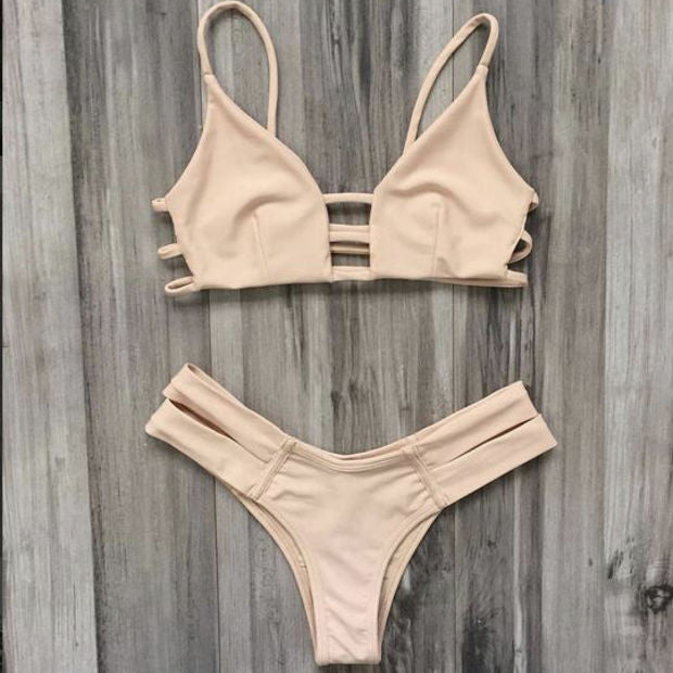 Sexy Hollow Out Sling Beach Bikini Swimsuit Swimwear