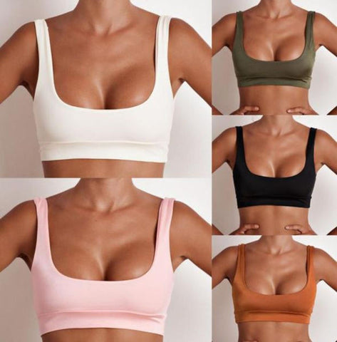 New Fashion Sexy Vest Pure Color Wrap Chest Bikini Top