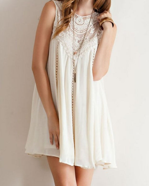 Fashion Natural Boho Crochet Lace Dress
