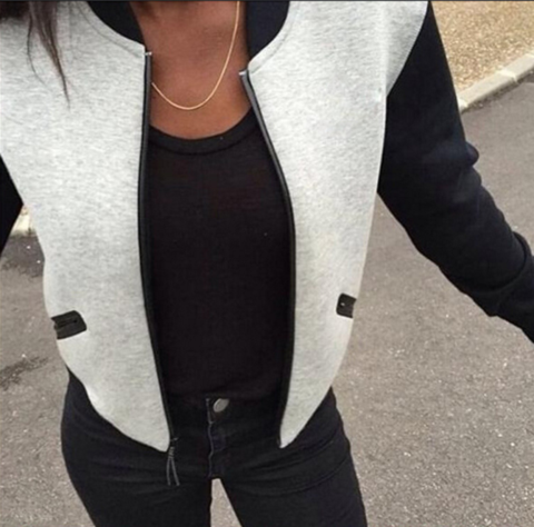 LONG-SLEEVED ZIPPER JACKET
