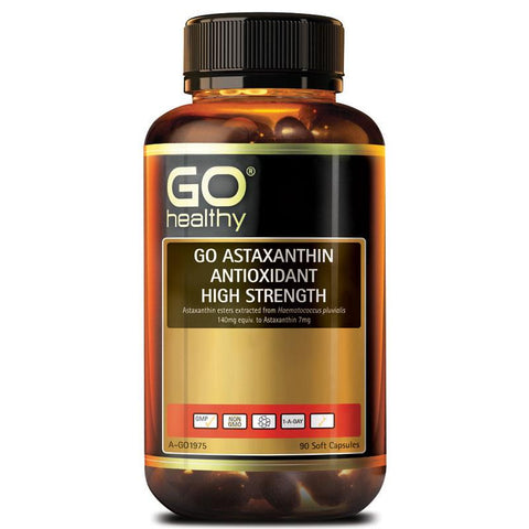 Go Healthy Astaxanthin Antioxidant High Strength 90 Soft Capsules