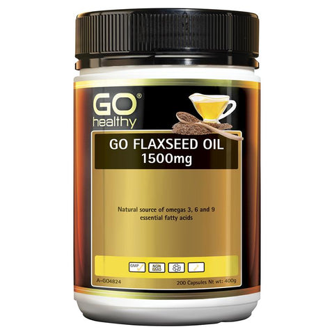Go Healthy Flaxseed Oil 1500mg 200 Capsules