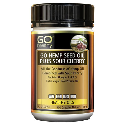 Go Healthy Hemp Seed Oil Plus Sour Cherry 100 Capsules