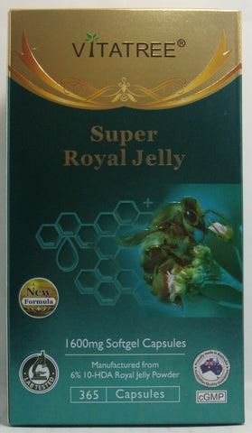 Vitatree Super Royal Jelly Australia 1600mg / 365 Softgel Capsules