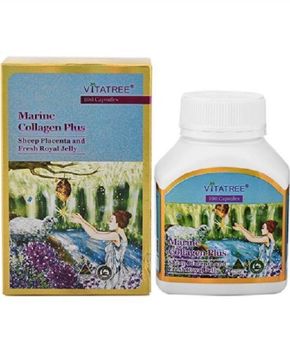 VitaTree Marine Collagen Plus Sheep Placenta & Fresh Royal Jelly 100 Capsules
