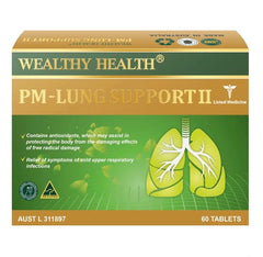 Wealthy Health PM Lung Support 60 Tablets