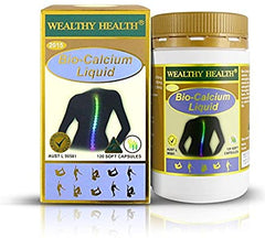 Wealthy Health Bio Calcium Liquid 120 Capsules