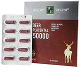 Wealthy Health Deer Placental 50000 / 60 Capsules - On Special