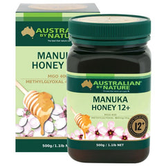 Australian by Nature 12+ 500g Manuka Honey - New Zealand (MGO 400)