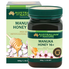 Australian by Nature 16+ 500g Manuka Honey - New Zealand (MGO 600)