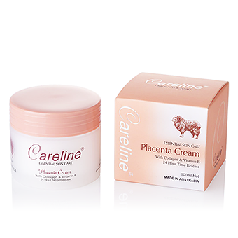 CARELINE PLACENTA CREAM WITH COLLAGEN & VITAMIN E - 100mL