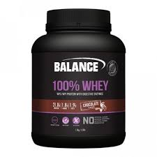 BALANCE 100% WHEY WPC/WPI PROTEIN WITH DIGESTIVE ENZYMES-CHOCOLATE