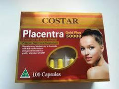 Skin Protection - Costar Placentra Essence Of Baby Sheep Gold Plus 50000 - 100 Capsules
