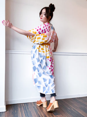 Limited Edition Hand-Dyed High Low Kimono Multi Mark