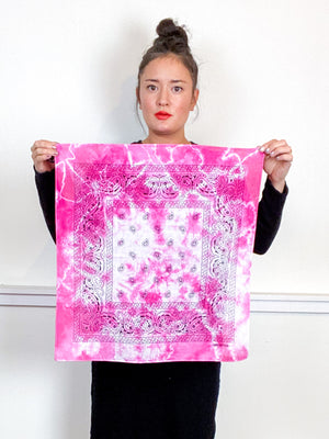 Over-Dyed Bandana Fuchsia