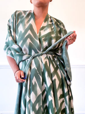 Limited Edition Hand-Dyed High Low Kimono Forest