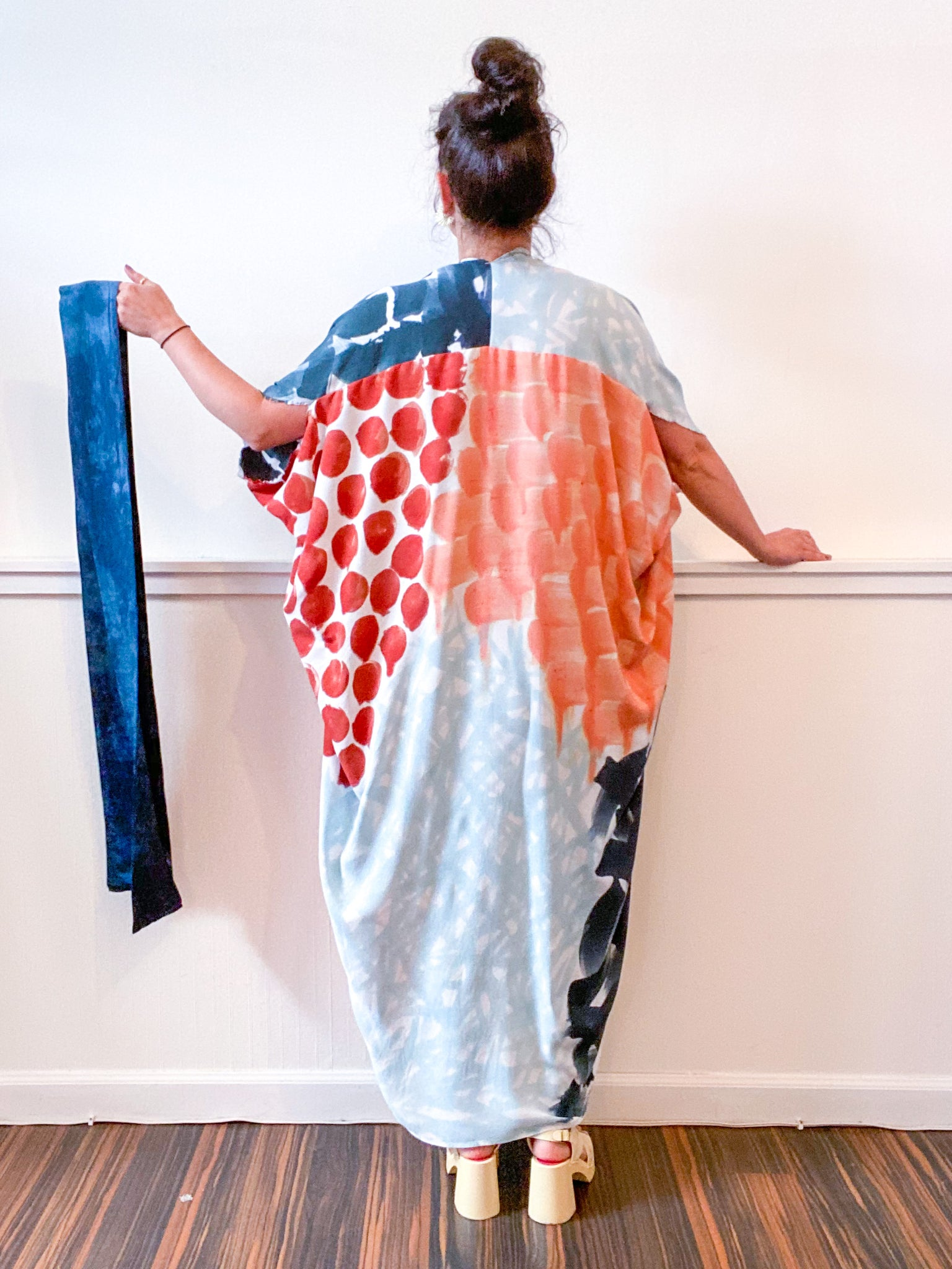 Limited Edition Hand-Dyed High Low Kimono Earth