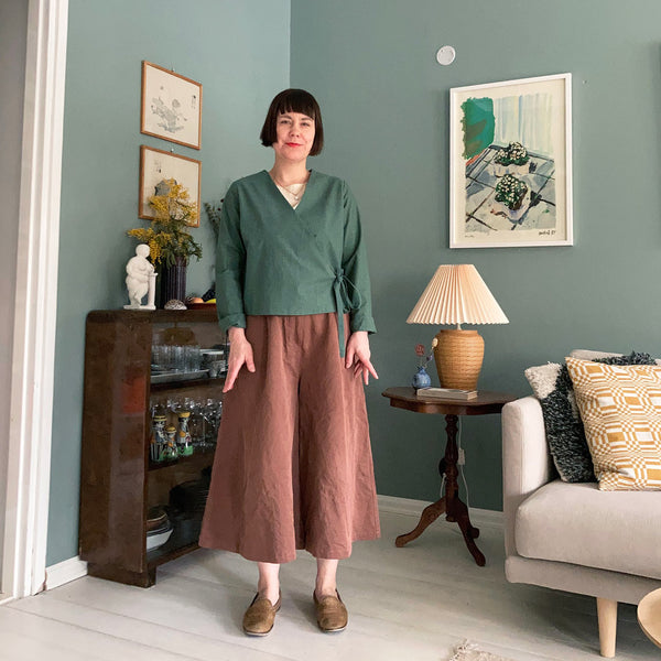 physa shirt with culottes