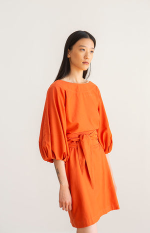 Aurelia dress orange rust - Dresses - TAUKO - TAUKODESIGN