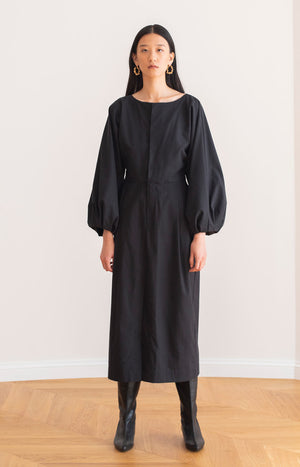 Aurelia maxi dress coal black - Dresses - TAUKO - TAUKODESIGN