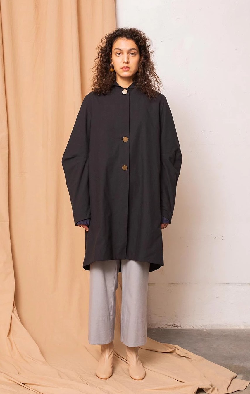 Core coat coal black - Jackets & Coats - TAUKO - TAUKODESIGN