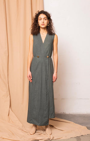 Dust dress melange alpine green