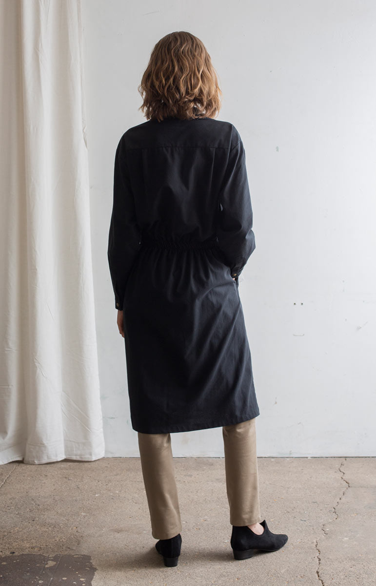 AW20 Judith button up dress coal black - Dresses - TAUKO - TAUKODESIGN