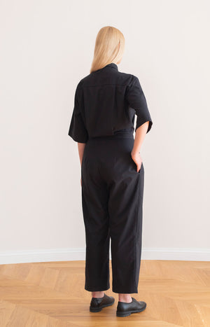 Judith jumpsuit coal black - Dresses - TAUKO - TAUKODESIGN