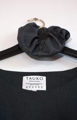 Kinship Shore dress grey with dark blue M - - TAUKO - TAUKODESIGN