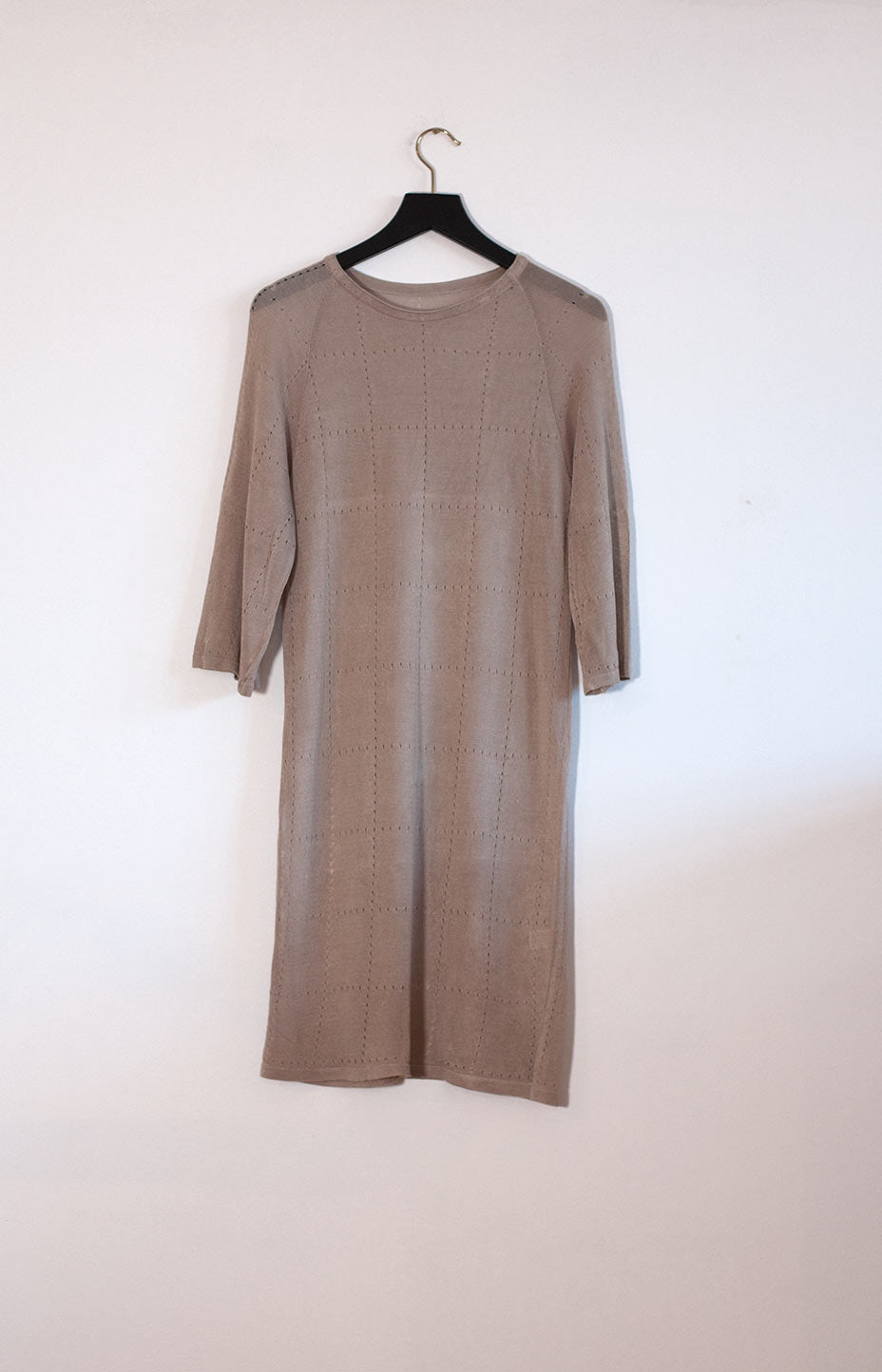 Kinship Tile dress beige S - - TAUKO - TAUKODESIGN