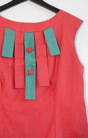 Kinship summer top coral red S/M - - TAUKO - TAUKODESIGN