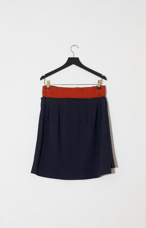 Kinship Silmu skirt dark blue/orange M - - TAUKO - TAUKODESIGN
