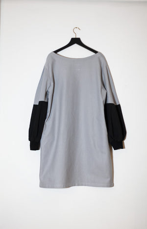 Kinship Stone dress drizzle grey M - - TAUKO - TAUKODESIGN