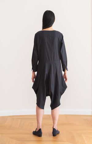 Leija jumpsuit coal black - Dresses - TAUKO - TAUKODESIGN