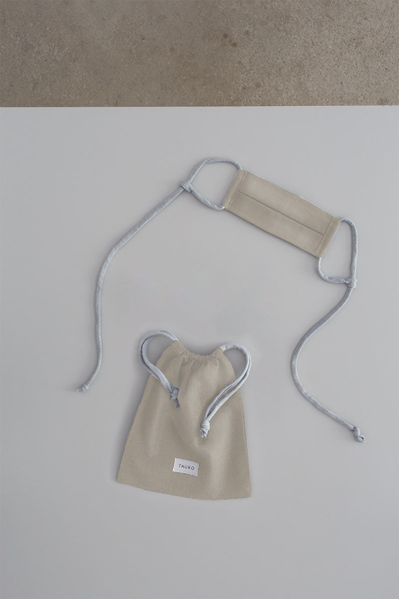 Wave face mask khaki with a bag