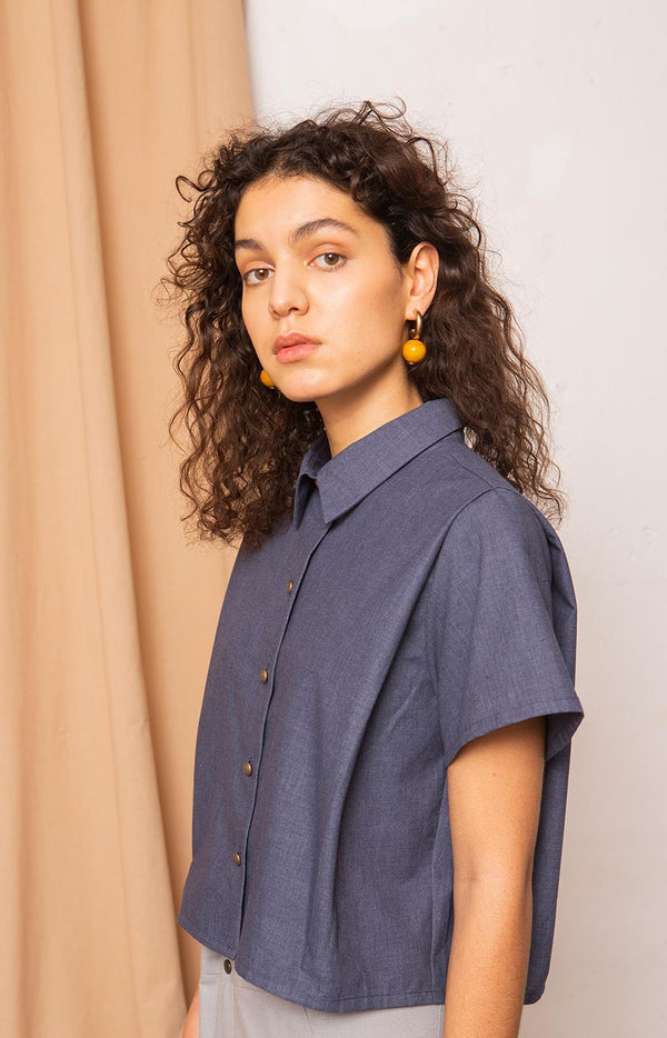 Mineral shirt melange estate blue