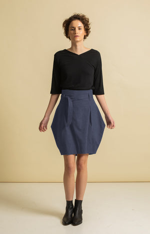 Radalla Tulip Skirt Vintage Indigo - Bottoms - TAUKO - TAUKODESIGN