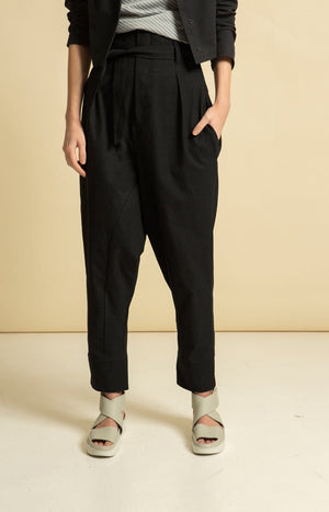 Radalla Trousers Coal Black - Bottoms - TAUKO - TAUKODESIGN