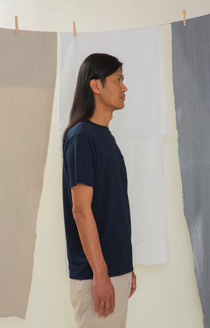 Rahkasammal T-shirt sailor blue - Tops - TAUKO - TAUKODESIGN