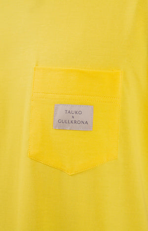 Rahkasammal T-shirt sunshine yellow - Tops - TAUKO - TAUKODESIGN