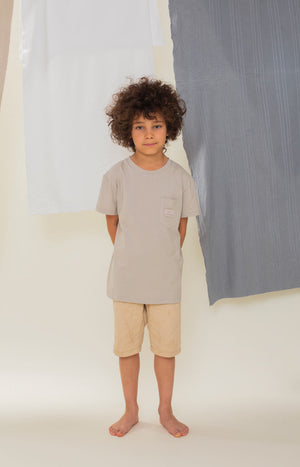 Rahkasammal kid's T-shirt soft grey - Tops - TAUKO - TAUKODESIGN