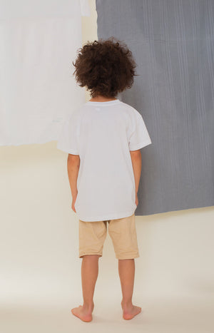 Rahkasammal kid's T-shirt white - Tops - TAUKO - TAUKODESIGN