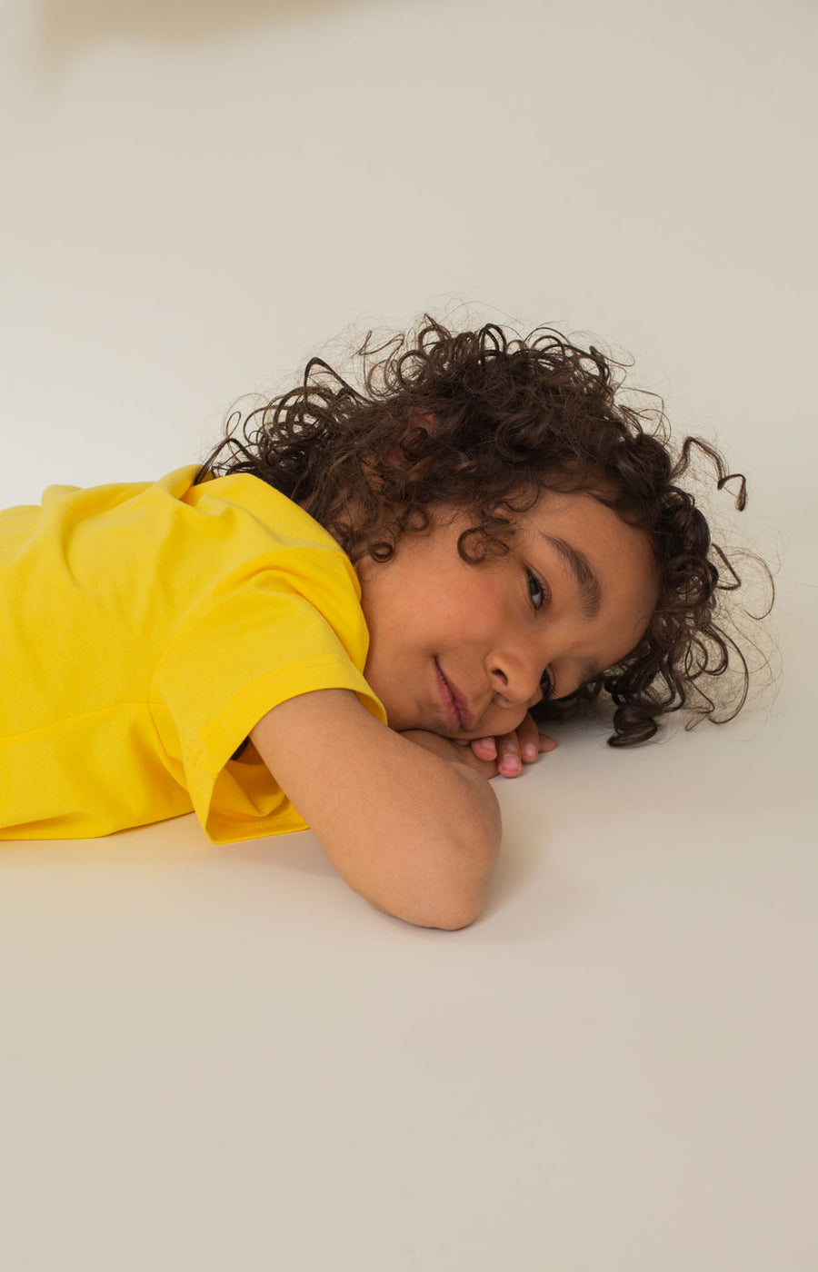 Rahkasammal kid's T-shirt sunshine yellow - Tops - TAUKO - TAUKODESIGN