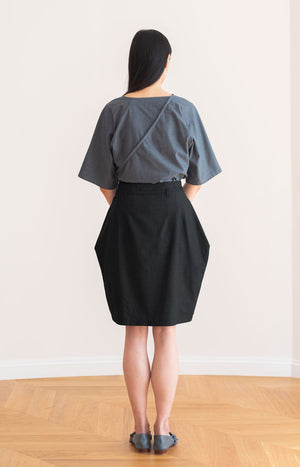 Road skirt coal black