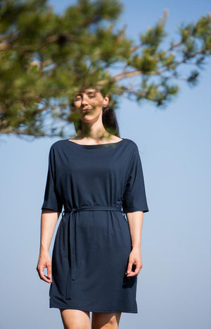 Sinisimpukka tunic dress sailor blue