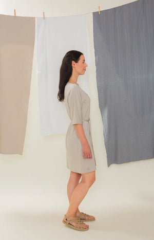 Sinisimpukka tunic dress soft grey - Dresses - TAUKO - TAUKODESIGN