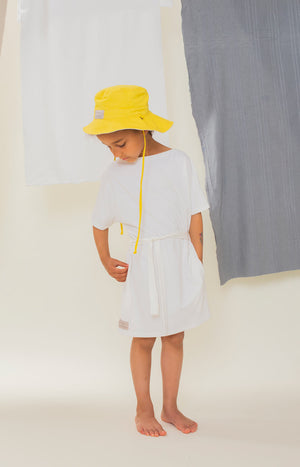 Sinisimpukka kid's dress broken white - Dresses - TAUKO - TAUKODESIGN